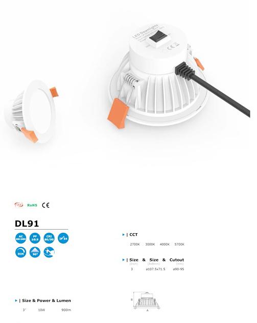 โคมไฟ LED Downlight รุ่น DL91