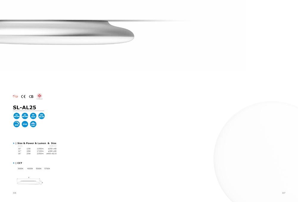 โคมไฟ LED Ceiling Light รุ่น SL-AL25