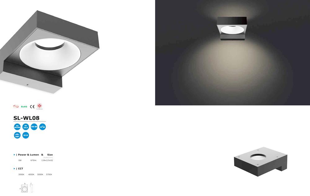 โคมไฟ LED Wall Light รุ่น SL-WL08