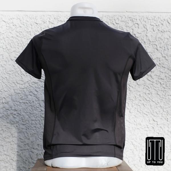 เสื้อกีฬาสุภาพบุรุษ สีดำล้วน