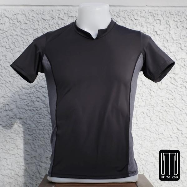 เสื้อกีฬาสุภาพบุรุษ สีดำ-เทา