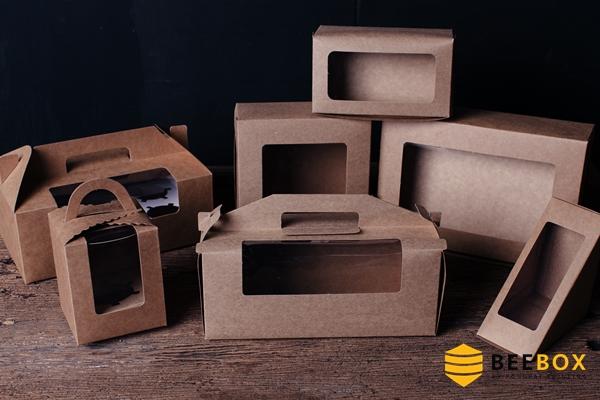 กล่องคัพเค้ก 4 ชิ้น พร้อมฐาน