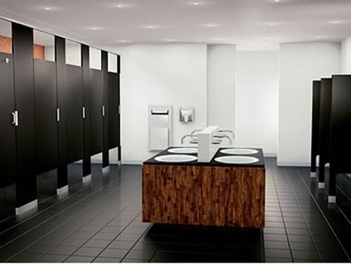 ผนังกั้นห้องน้ำสำเร็จรูปพร้อมอุปกรณ์