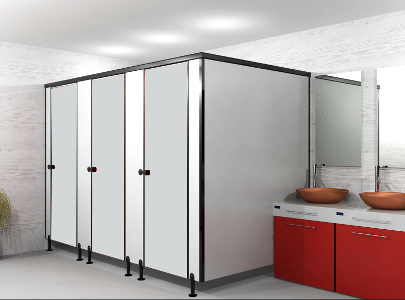ผนังกั้นห้องน้ำ WHITE S001