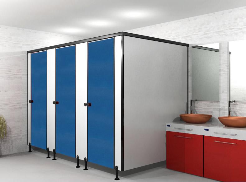 ผนังกั้นห้องน้ำ BLUE S007