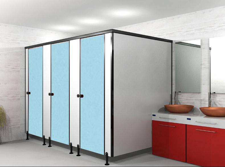 ผนังกั้นห้องน้ำ BLUE SKY P1805