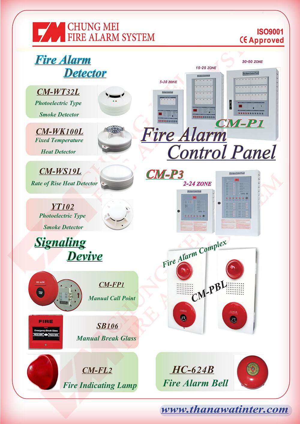 แผงควบคุมสัญญาณเตือนไฟไหม้ รุ่น CM-P1