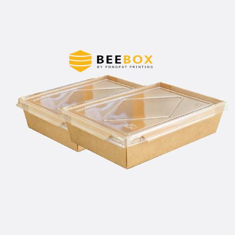 กล่องอาหารกระดาษคราฟท์ รหัส JH-A-1600B