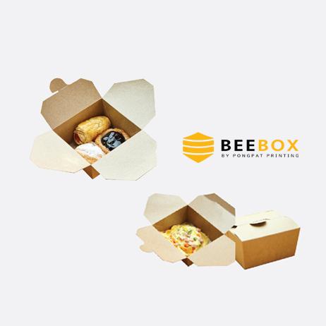 กล่องอาหารกระดาษคราฟท์ รหัส JH-D-004