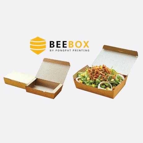 กล่องอาหารกระดาษคราฟท์ รหัส JH-K-900B