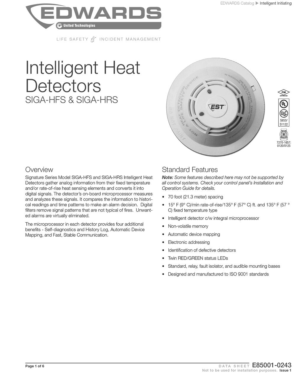 เครื่องตรวจจับความร้อน รุ่น E85001-0243