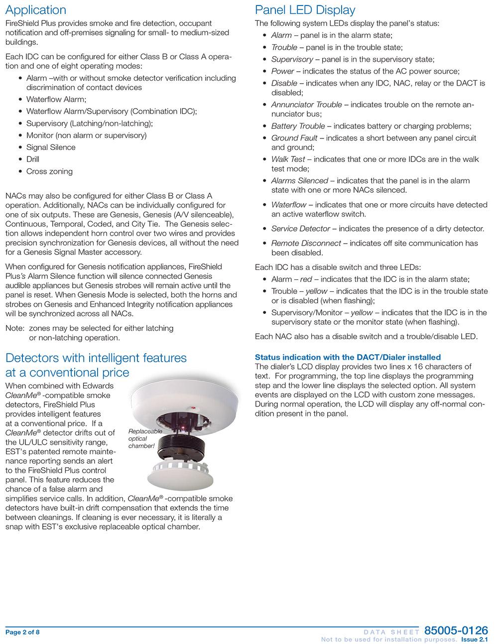 แผงควบคุมอัคคีภัย รุ่น 85005-0126