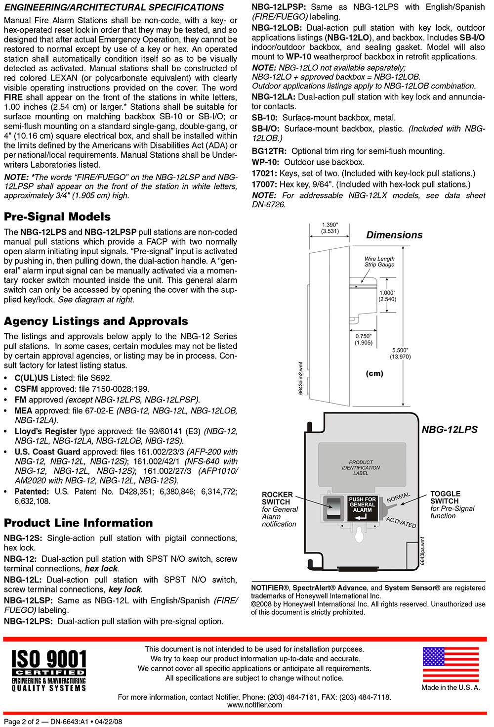 NBG-12S Manual pull