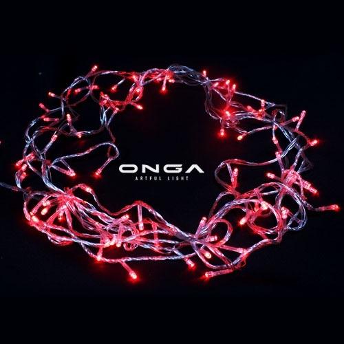 ไฟหยดน้ำ LED: แสง Red, 100 led, ยาว 8 เมตร, ปรับได้ 8 จังหวะ