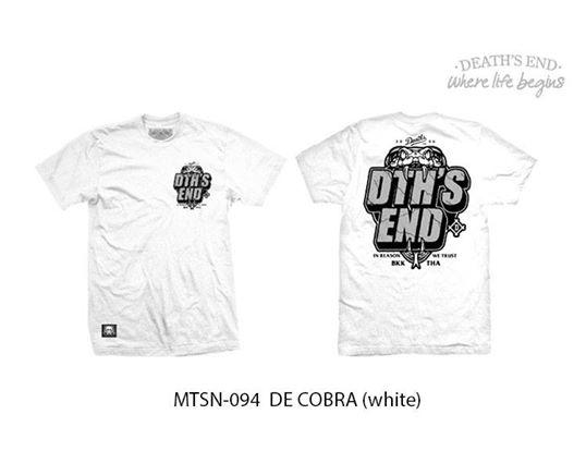 [S] เสื้อยืดคอกลมสีขาว MTSN-094 DE COBRA (White)