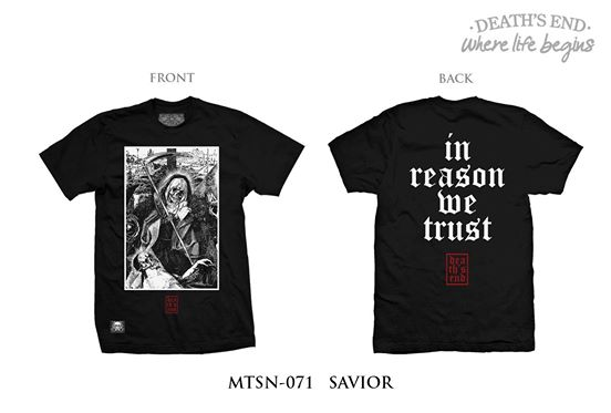 [L] เสื้อยืดคอกลมสีดำ รหัส MTSN-071 SAVIOR