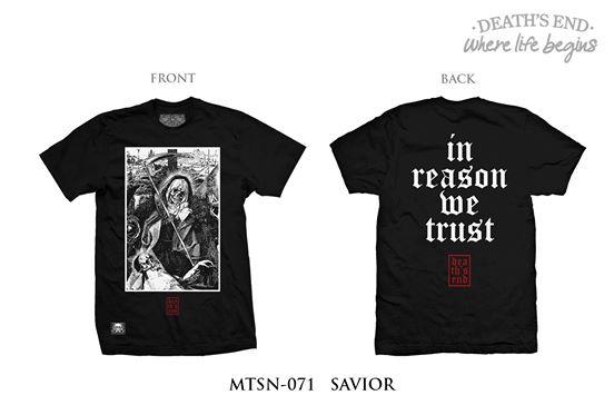 [XL] เสื้อยืดคอกลมสีดำ รหัส MTSN-071 SAVIOR