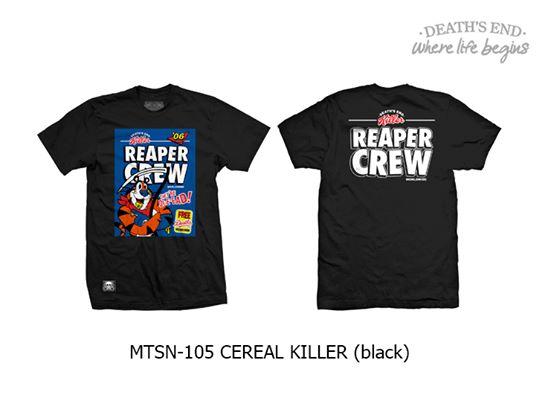 [M] เสื้อยืดสีดำ MTSN-105-CEREAL KILLER (Black)