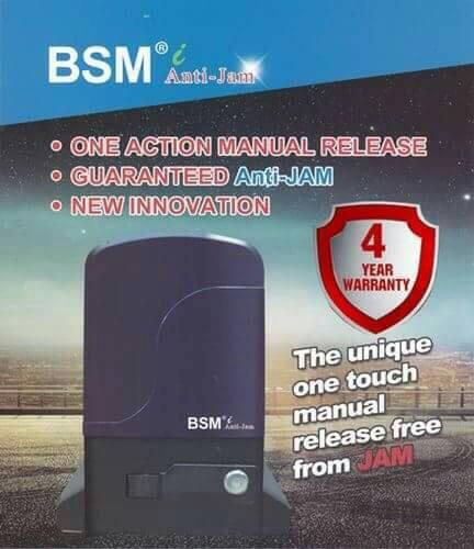 ประตูรีโมทบานเลื่อน BSM Anti Jam