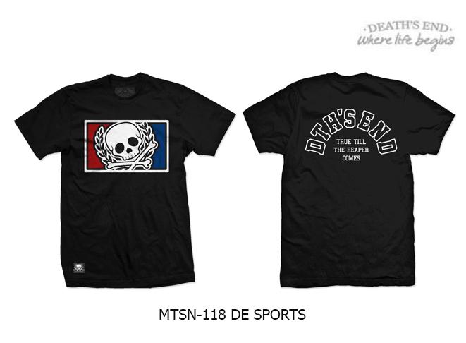 [XL] เสื้อยืดคอกลมสีดำ รหัส MTSN-118 DE SPORTS