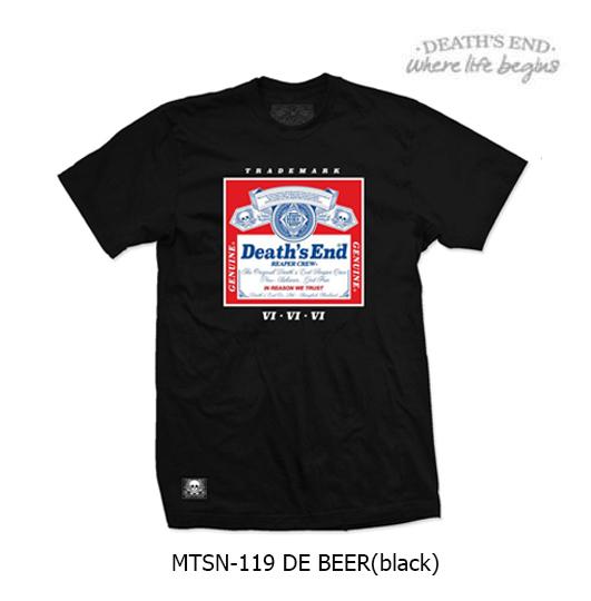 [S] เสื้อคอกลมสีดำ รหัส MTSN-119 DE BEER (Black)