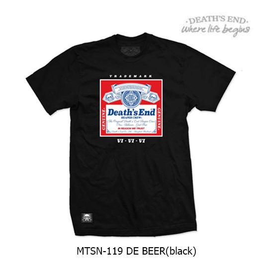 [L] เสื้อคอกลมสีดำ รหัส MTSN-119 DE BEER (Black)