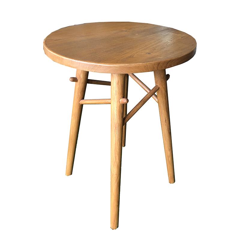 โต๊ะทรงกลมขาสลักไม้ รหัส TB-03