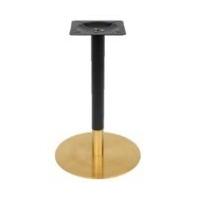 ขาโต๊ะสแตนเลสทรงกลมสีดำทอง SL 9