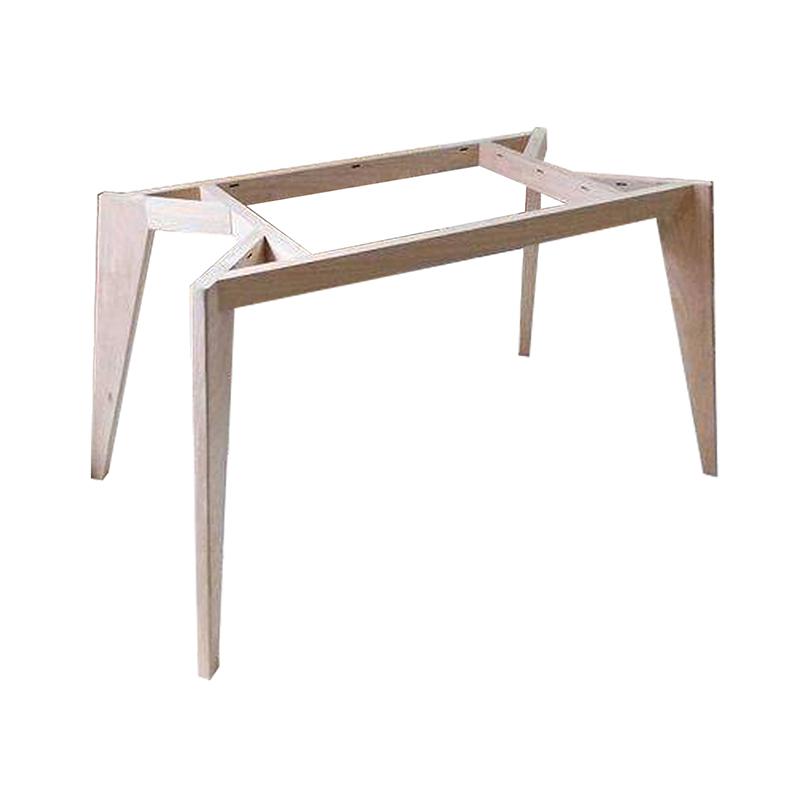 ขาโต๊ะไม้ แบบสี่เหลี่ยม สีอ่อน