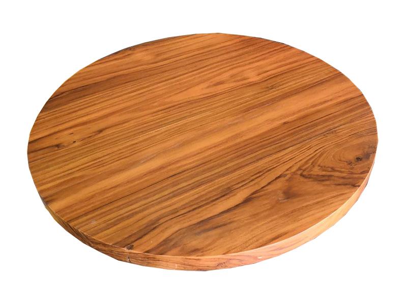 ท็อปโต๊ะอาหาร ไม้สักทรงกลม TT 03