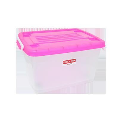 กล่องพลาสติก มีล้อ 30 ลิตร #215TP