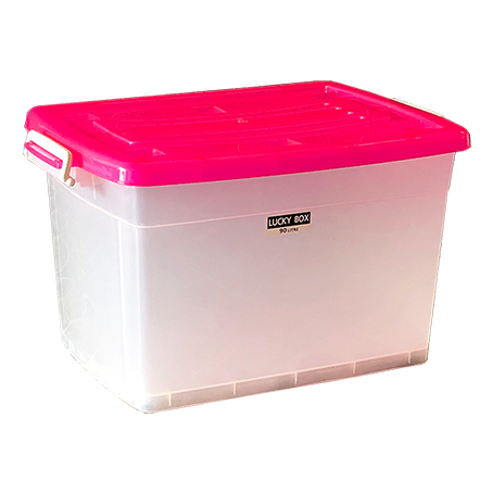 กล่องพลาสติก มีล้อ 90 ลิตร #213TP