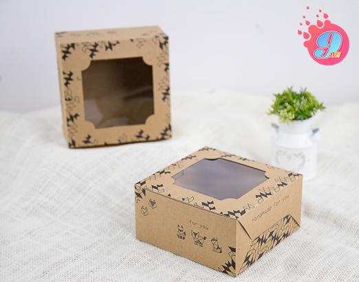 กล่องเค้กครึ่งปอนด์คราฟ ลายโอริกามิ