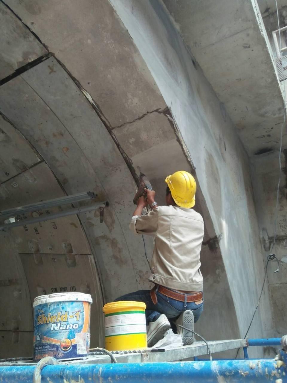 ซ่อมน้ำรั่วซึม PU Foam Injection