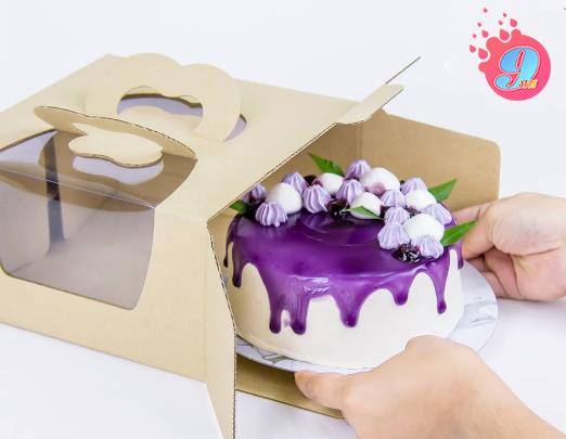 กล่องเค้กหูหิ้วลูกฟูก 2-4 ปอนด์