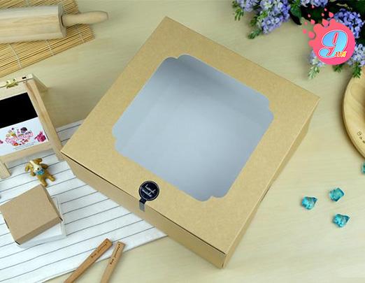 กล่องเค้ก 4 ปอนด์ คราฟหลังขาว