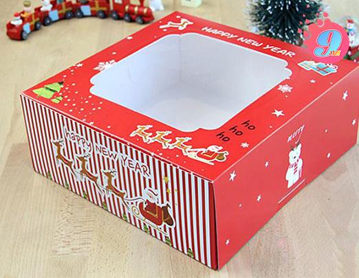 กล่องเค้ก 3 ปอนด์ ลาย Happy New Year