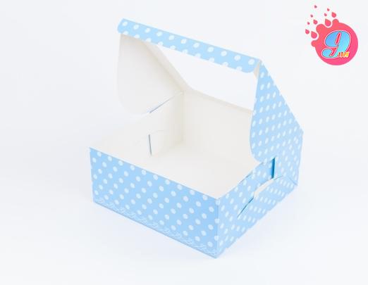 กล่องเค้ก 2 ปอนด์ ฟ้าจุด