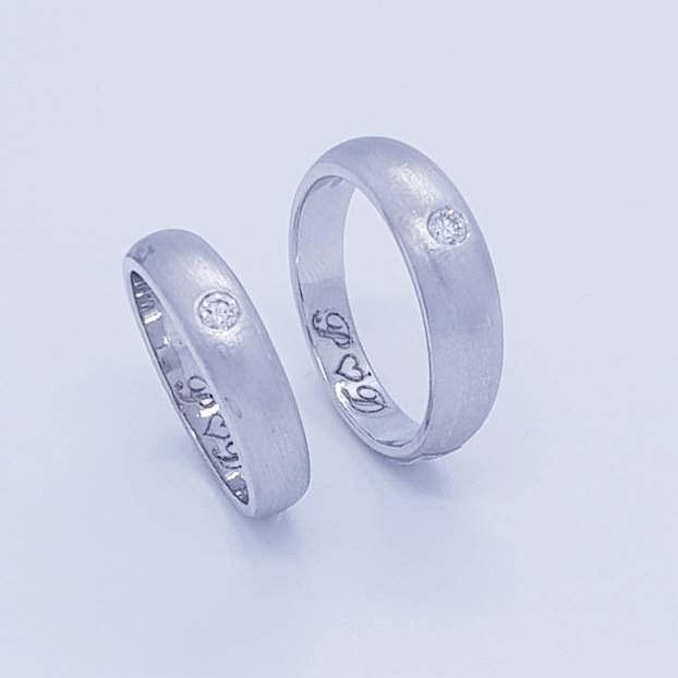 แหวนเพชรคู่ Classic Love CDRG 0170