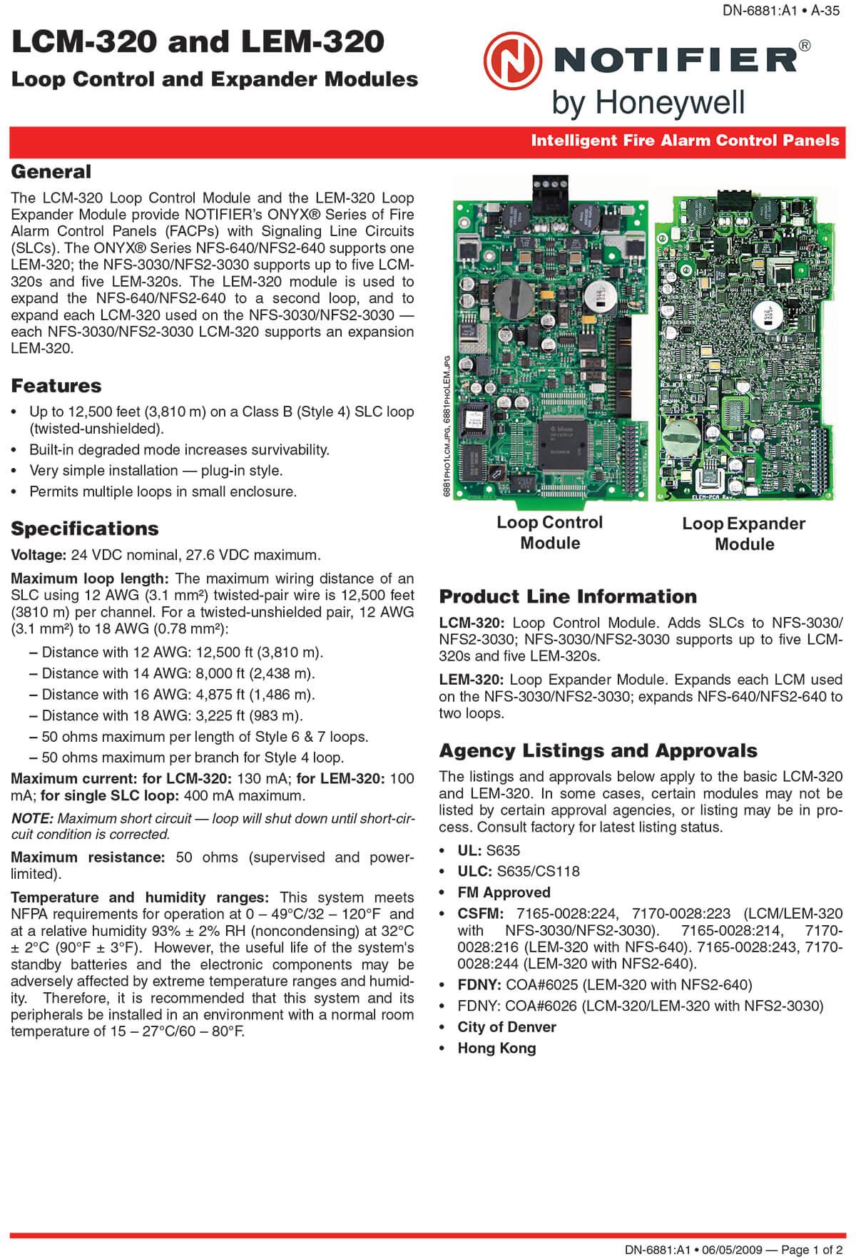 LCM & LEM Loop Control and Expander Modules