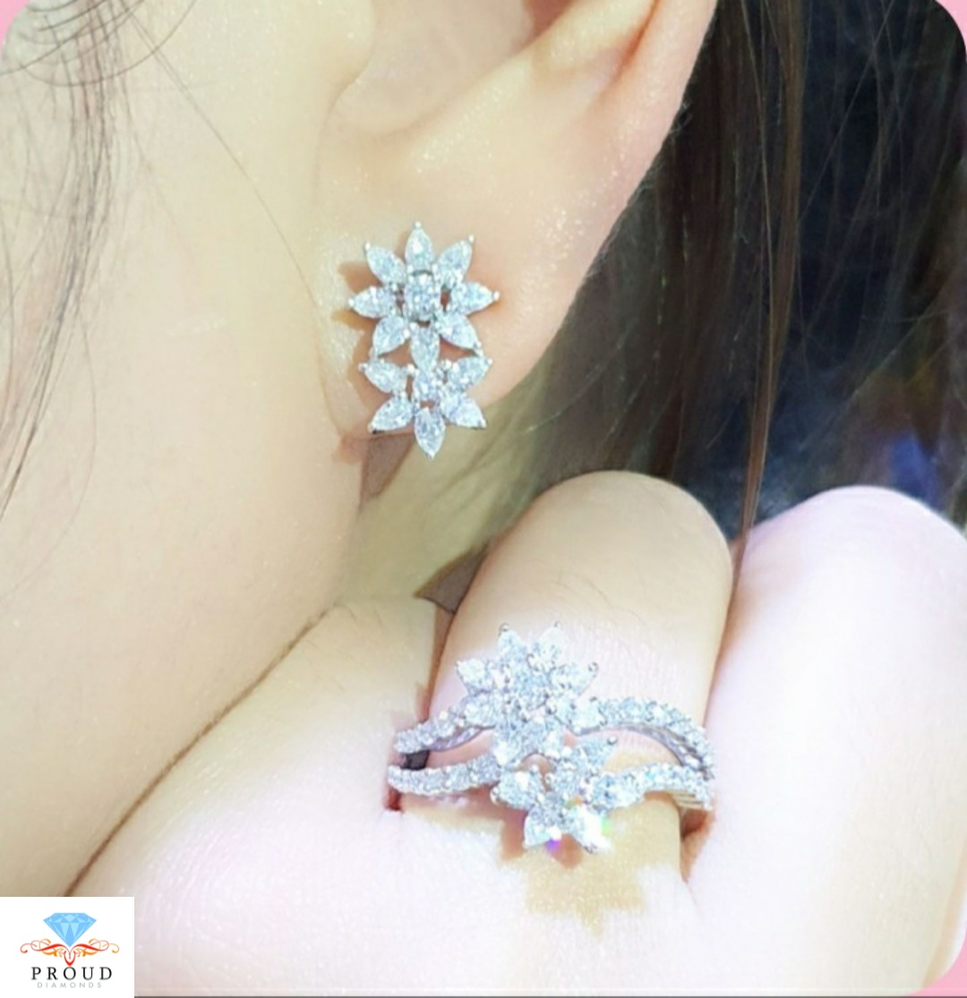 ต่างหู Elegant Le Flora Diamond Set