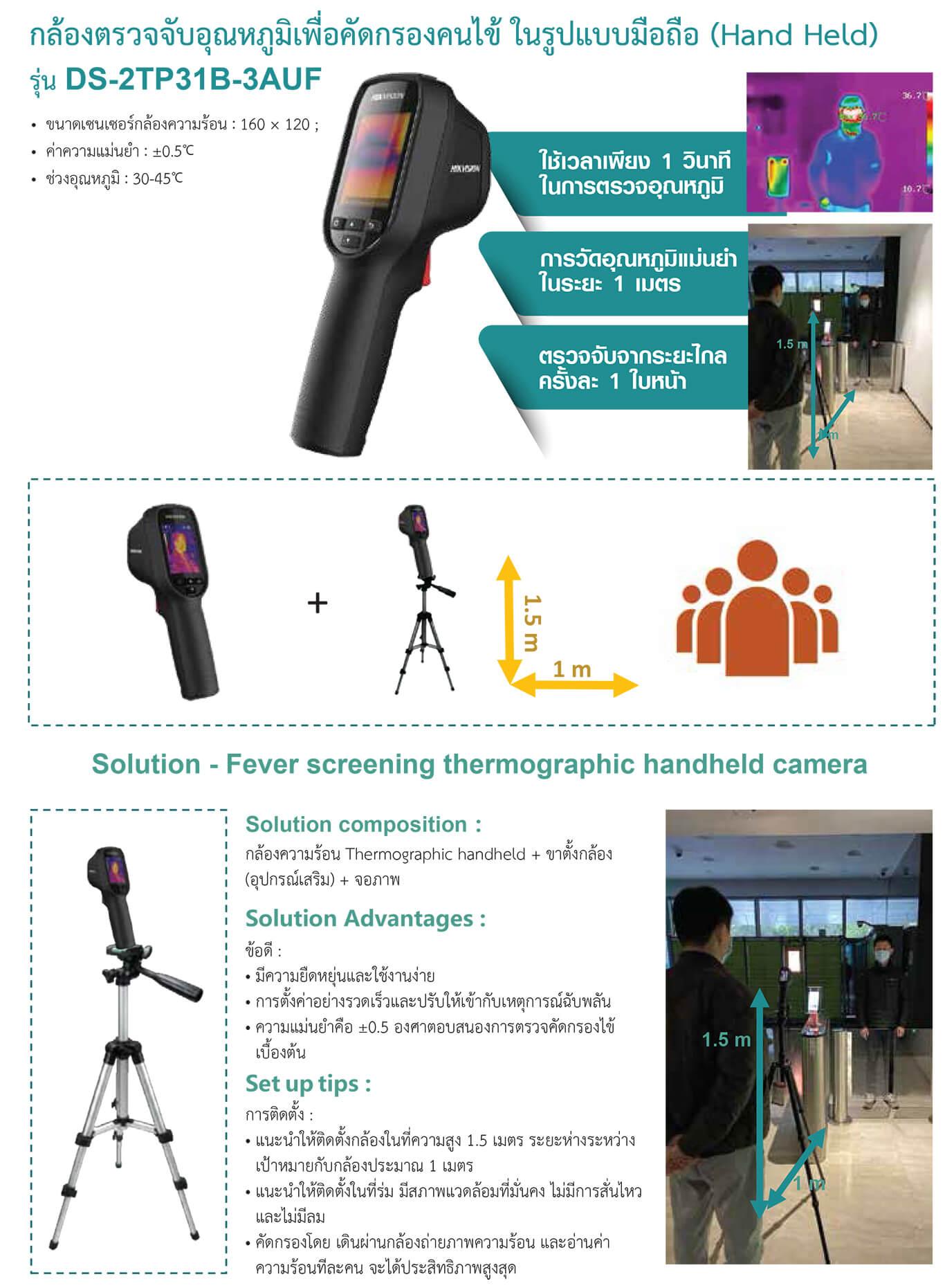 กล้องตรวจจับอุณหภูมิเพื่อคัดกรองคนไข้ HIKVISION