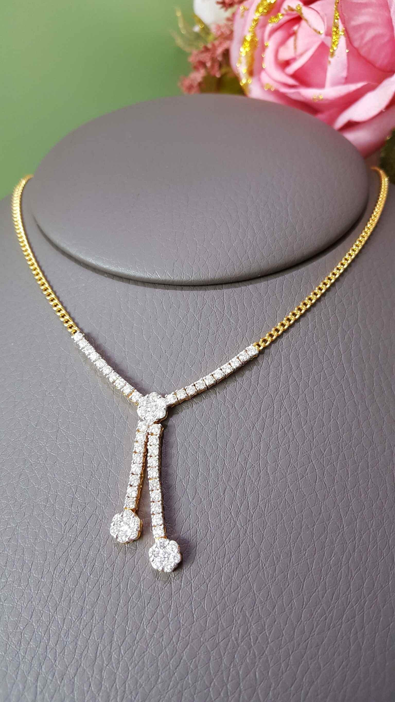 สร้อยคอเพชร V-diamond