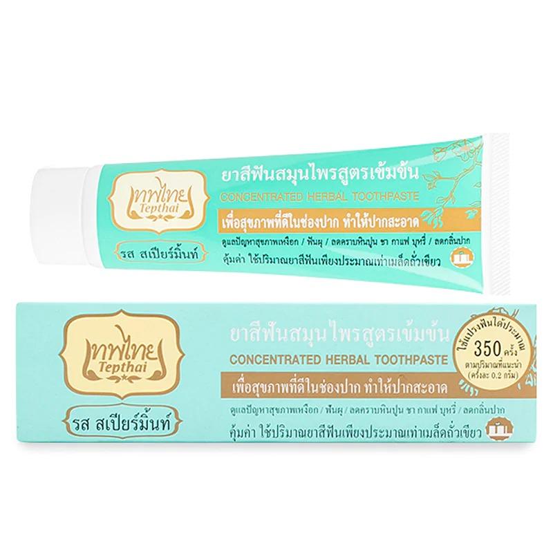 (หลอด) ยาสีฟันเทพไทย สเปียร์มินต์ 70กรัม.