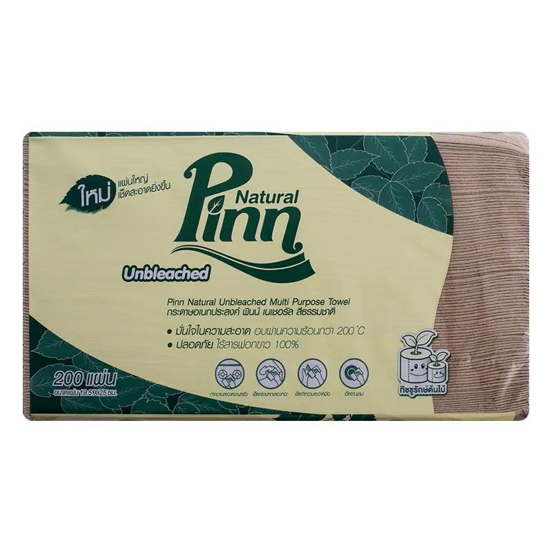(ชิ้น) พินน์เนเชอรัล สีน้ำตาล(แบบแผ่น) 200แผ่น