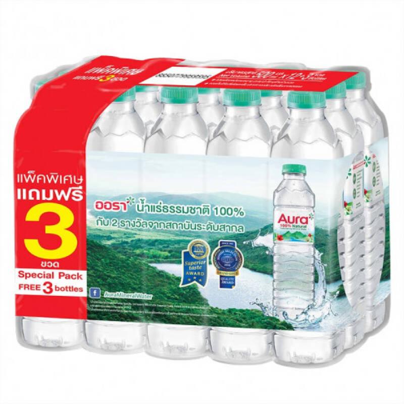 (แพ็ค) น้ำแร่ออร่า 500มล. (1*12)