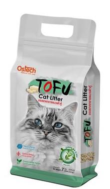 ทรายแมวเต้าหู้ Ostech Tofu 7 ลิตร กลิ่นชาเขียว