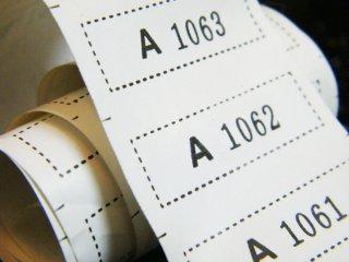ป้ายพิมพ์ติดเสื้อ Runnign Number