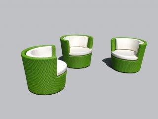 เก้าอี้หวายเทียม ANSO38