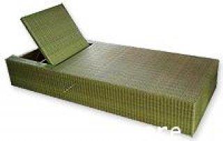 เตียงอาบแดดหวายเทียมโครง Aluminum